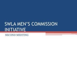 SWLA MEN'S COMMISSION INITIATIVE