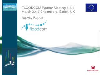 FLOODCOM Partner Meeting 5 & 6 March 2013 Chelmsford, Essex, UK Activity Report