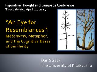 """""""An Eye for  Resemblances"""": Metonymy, Metaphor,  and the Cognitive Bases  of Similarity"""