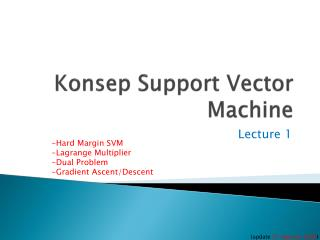 Konsep  Support Vector Machine