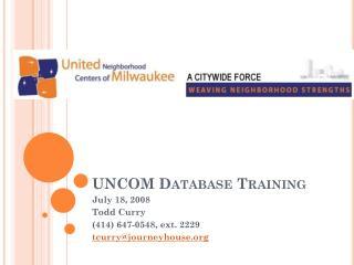 UNCOM Database Training
