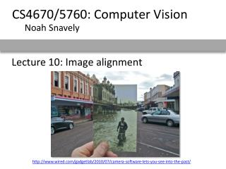 Lecture 10: Image alignment