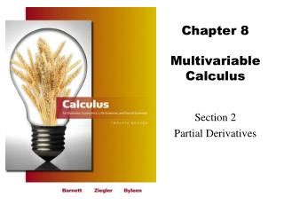 Chapter 8 Multivariable Calculus