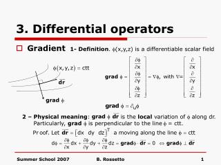 3. Differential operators