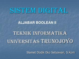 ALJABAR BOOLEAN II
