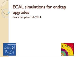 ECAL simulations for endcap upgrades