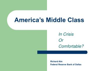 America�s Middle Class