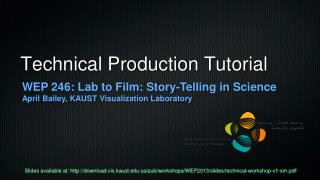 Technical Production Tutorial