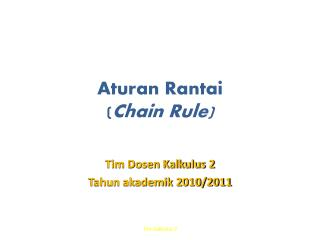 Aturan Rantai ( Chain Rule)