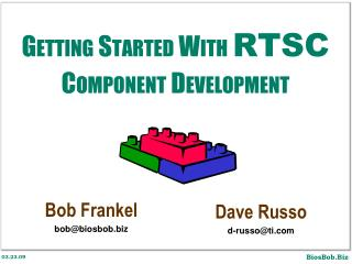 Getting Started With  RTSC Component Development