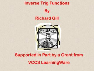 Inverse Trig Functions By Richard Gill