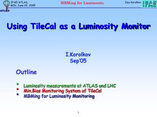 Using TileCal as a Luminosity Monitor