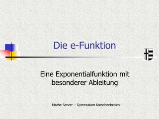 Die e-Funktion