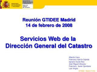 Servicios Web de la  Dirección General del Catastro