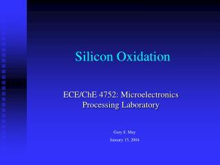 Silicon Oxidation