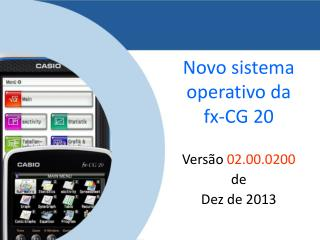 Novo sistema operativo da  fx-CG 20