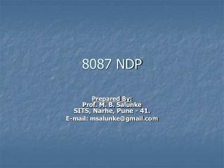 8087 NDP