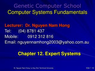 Genetic Computer School Computer Systems Fundamentals