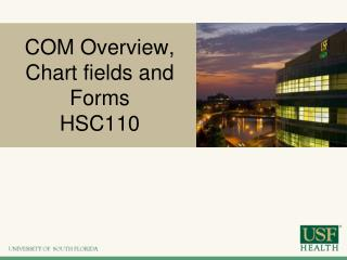 COM Overview, Chart fields and Forms HSC110