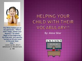 Helping your child with their vocabulary!!