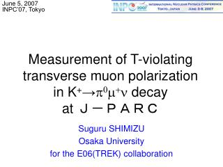 Measurement of T-violating  transverse muon polarization  in K + → p 0 m + n  decay at  J-PARC