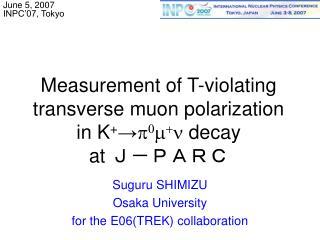 Measurement of T-violating  transverse muon polarization  in K + → p 0 m + n  decay at  J-PARC