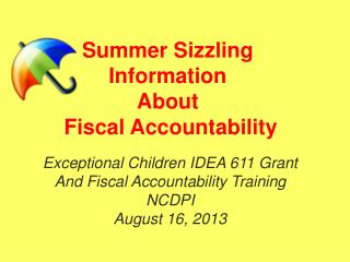 Summer Sizzling Information About  Fiscal Accountability