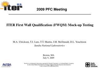 2009 PFC Meeting