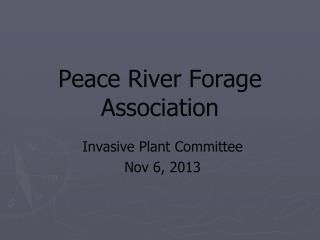 Peace River Forage  Association