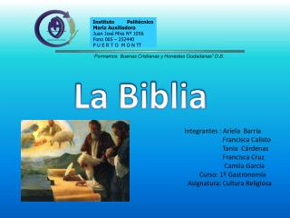 Integrantes : Ariela  Barría                       Francisca Calisto