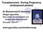 Toxoplasmosis  During Pregnancy widespread phobia