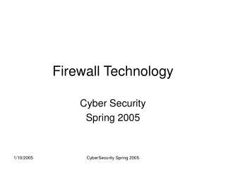 Firewall Technology