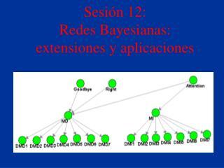 Sesión 12:   Redes Bayesianas: extensiones y aplicaciones
