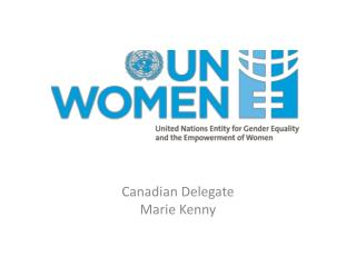 Canadian Delegate Marie Kenny