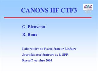 CANONS HF CTF3