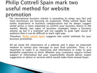 Philip cottrell spain mark two useful method for website pro