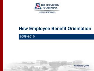 New Employee Benefit Orientation