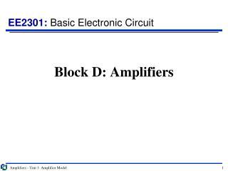 Block D: Amplifiers