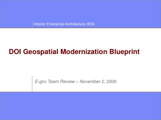 DOI Geospatial Modernization Blueprint