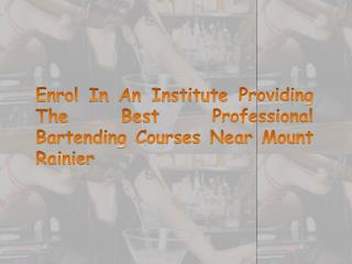 Enrol In An Institute Providing The Best Professional Barte