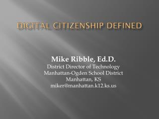 Digital Citizenship Defined