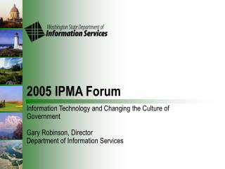 2005 IPMA Forum