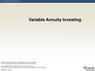 Variable Annuity Investing
