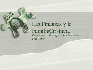 Las  Finanzas  y la  FamiliaCristiana