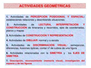 ACTIVIDADES GEOM�TRICAS