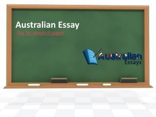 Pay for Research Paper- Australian Essay