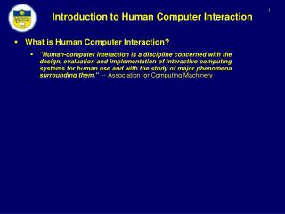 Introduction to Human Computer Interaction