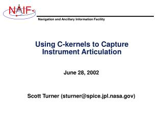 Using C-kernels to Capture Instrument Articulation