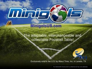 The  adaptable,  interchangeable and  collectable Foosball  Table!