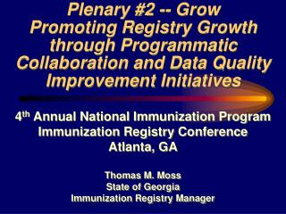 Plenary #2 -- Grow
